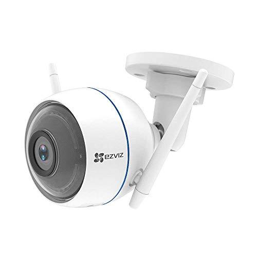 EZVIZ ezTube 1080p Überwachungskamera aussen WiFi 2.4Ghz Kamera, Sirene und Licht Alarm,...