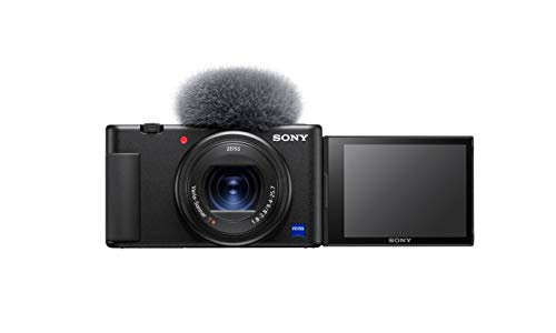 Sony Vlog-Kamera ZV-1 (Digitalkamera, 24-70mm, seitlich klappbares Selfie-Display für Vlogging &...
