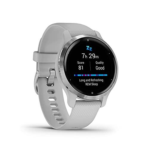 "Garmin Venu 2S – schlanke GPS-Fitness-Smartwatch mit ultrascharfem 1,1"" AMOLED-Touchdisplay,..."