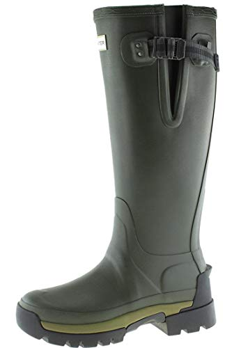 HUNTER Balmoral Side Adjustable 2 Olive, Damen Gummistiefel, 40/41