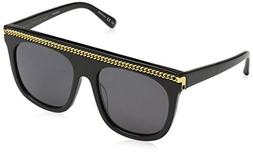 Stella McCartney Unisex-Erwachsene SC0043S 001 Sonnenbrille, Schwarz (001-Black/Smoke), 55