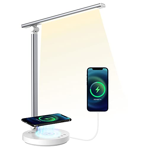 Schreibtischlampe Led Wireless Charger Dimmbar Tischlampe SHEEPPING Bürolampe Touch Control...