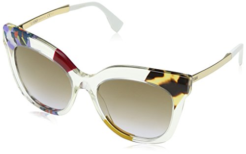 FENDI Damen FF 0179/S LW TKW 53 Sonnenbrille, Violett (Hnyvltp/Brown Violet)