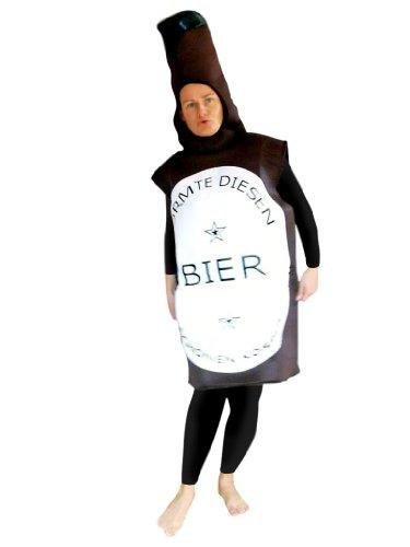 Bier-Flasche Kostüm, To48 Gr. M-L, Bierflasche-Kostüme Bierflaschen  Kostüme...