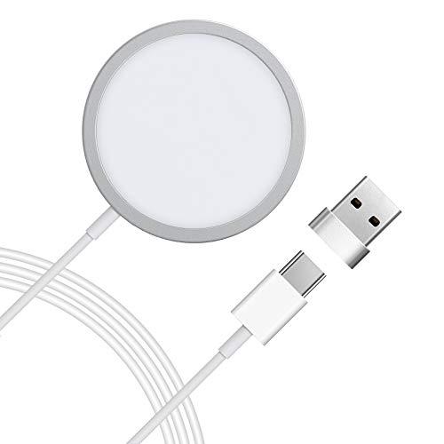 LETSCOM 15W Magnetische Wireless Charger, iPhone 12 kabellose Ladegerät mit automatischer...
