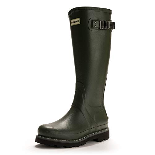 Hunter Wellies Frauen Balmoral II Poly Futter Gummistiefel - Dark Olive, Oliv, 38