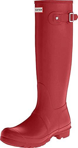 Hunter Damen-Gummistiefel für Winter / Regen / Schnee, rot