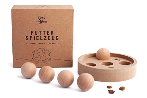 Samtpfote® Futterspielzeug aus Holz - Premium Qualität - interaktives Intelligenzspielzeug für...