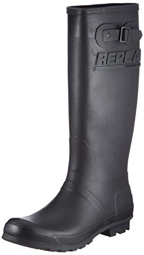 Replay Damen Laurens Gummistiefel, Schwarz (003 Black), 38 EU
