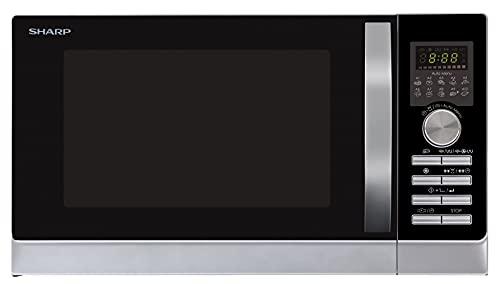 Sharp R843INW 3-in-1 Mikrowelle mit Heißluft, Grill und Konvektion/ 25 L / 800 W / 1000 W Grill /...