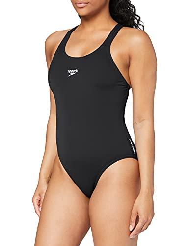 Speedo Damen Essential Endurance plus Medalist Swimwear, Schwarz, 40