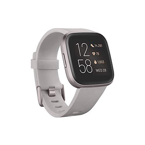 Fitbit Versa 2 – Gesundheits- und Fitness-Smartwatch mit Sprachsteuerung, Schlafindex und...