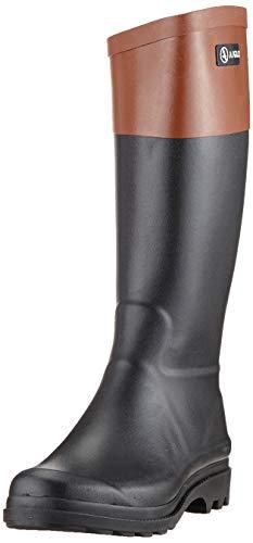 Aigle Damen Aiglentine Gummistiefel, Schwarz (Noir/Ambre 001), 42 EU
