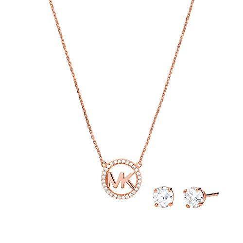 Michael Kors MKC1260AN791 Damen Collier Set Collier&Ohrstecker Silber 925 45 cm