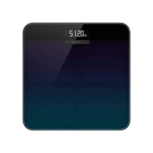 Amazfit Smart Scale, Digitale Personenwaage mit hohe Messgenauigkeit bis zu 50 Gramm,...