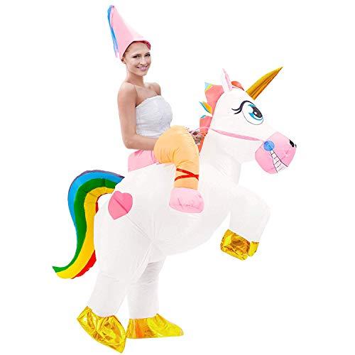Tacobear Aufblasbare Einhorn Kostüm für Erwachsene Fasching Karneval Halloween Kostüm Trag Mich...