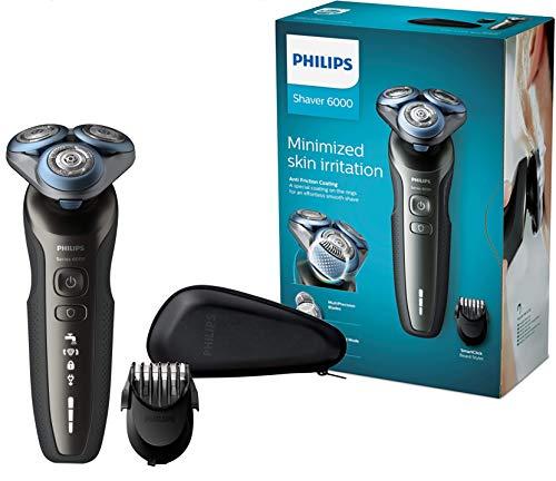 Philips S6640/44 Elektrischer Nass- und Trockenrasierer Series 6000 mit MultiPrecision-Schersystem,...