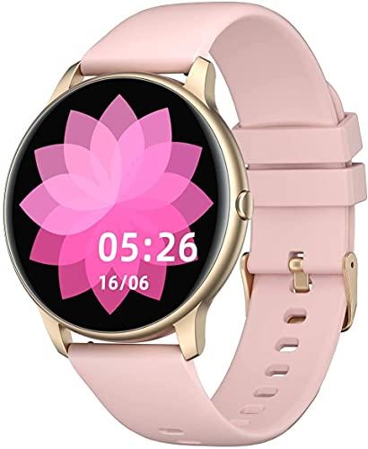 YAMAY Smartwatch für Damen Herren,1.28 Zoll HD Farbdisplay Fitnessuhr Smart Watch mit 13...