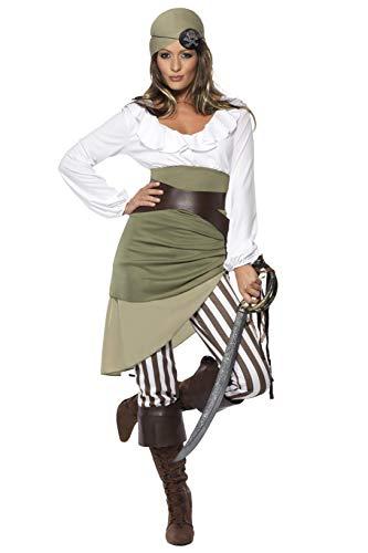 Matrosen-Zuckerpuppe Kostüm Oberteil Rock Leggings Kopftuch Gürtel und Überstiefel, Small
