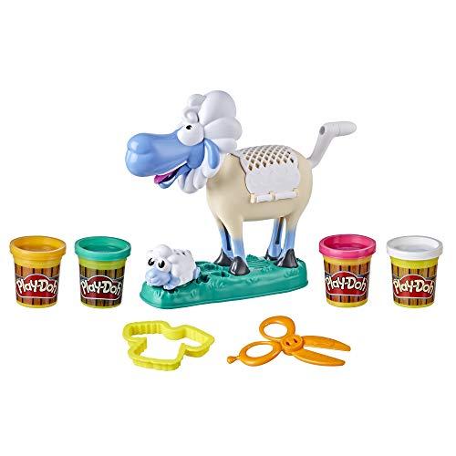 PlayDoh E7773 Animal Crew Sherrie Mama Wollschaf Spielzeug für Kinder ab 3 Jahren mit lustigen...