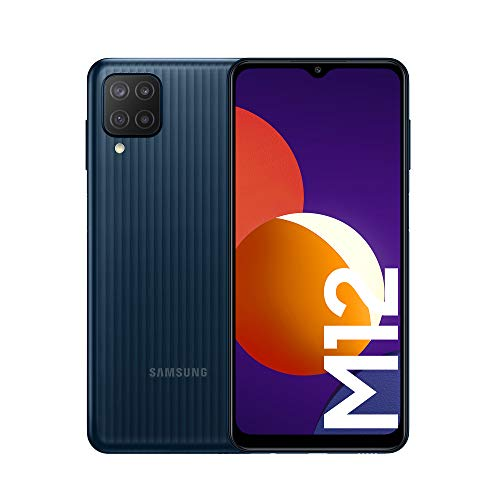 Samsung Galaxy M12 Android Smartphone ohne Vertrag, Quad-Kamera, 6,5 Zoll Infinity-V Display,...