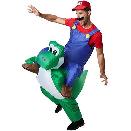 dressforfun 302351 - Aufblasbares Unisex Kostüm Italienischer Klempner auf dem Rücken Freundes