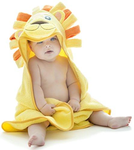 Little Tinkers World Baby-Badetuch/Kapuzenhandtuch im Löwe -Design – 100% Flauschige Baumwolle...
