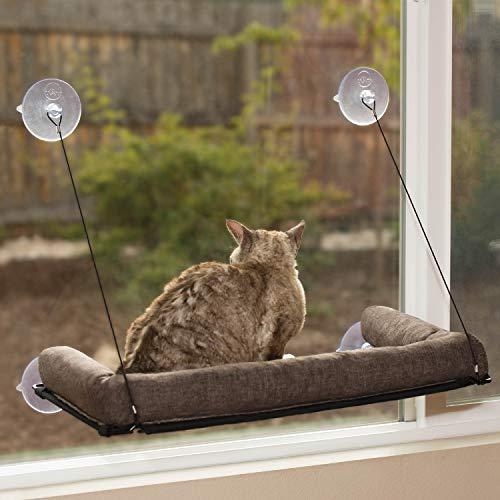 K&H 779090 Haustierprodukte, EZ Kitty Sill Deluxe mit Polster, luxuriöses Fenster-Katzenbett