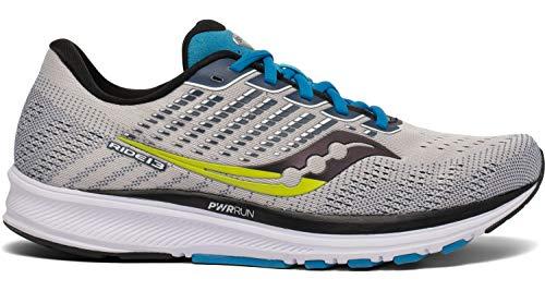 Saucony Men's Ride 13 Running Shoe - Color: Stone/Cobalt - Size: 10 - Width: Regular