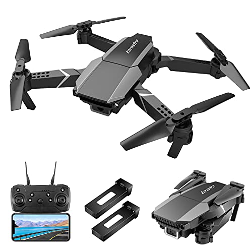 KOROSTRO GPS Drohne mit Kamera HD 1080P, Mini Faltbare RC Quadcopter HD WLAN Live Übertragung,...