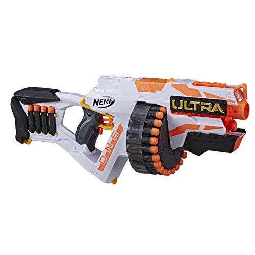 Hasbro Nerf Ultra One Motorized Blaster – Weiterentwickeltes Design, Trommelmagazin mit hoher...