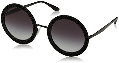 Dolce & Gabbana Damen 0DG2170B 01/8G 51 Sonnenbrille, Schwarz (Black/Gradient)