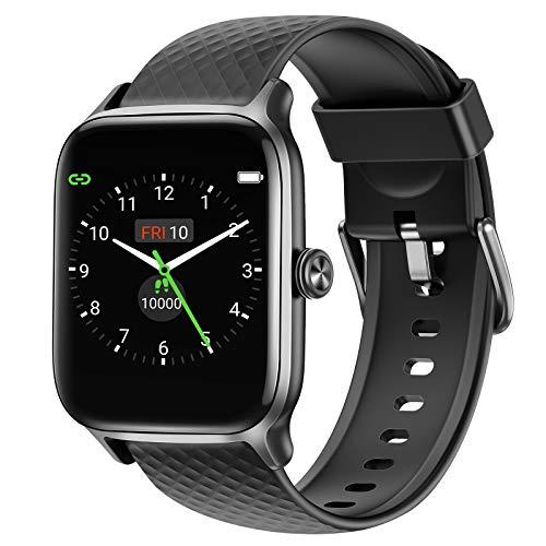 Letsfit Smartwatch für Damen Herren, Fitness Tracker Armbanduhr mit Pulsuhr Schlafmonitor und...