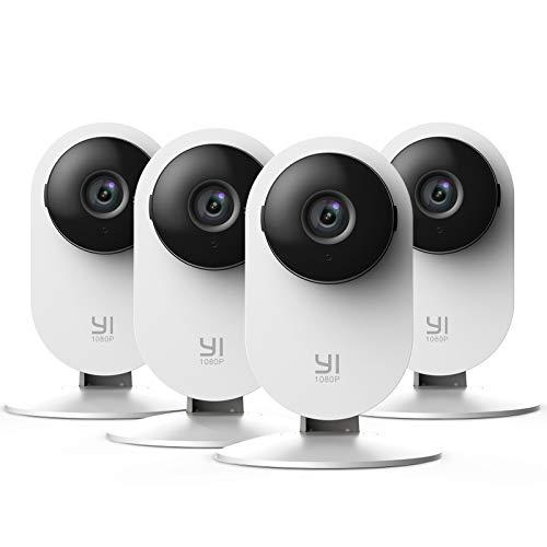 4 Stück YI Überwachungskamera 1080p Innen WiFi IP Sicherheitskamera mit Bewegungserkennung...