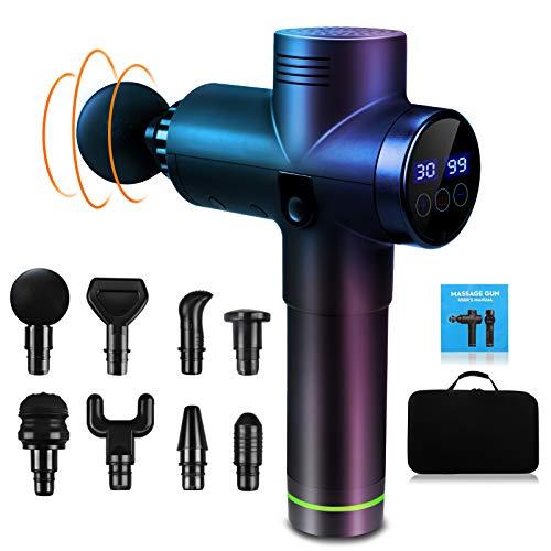 Massagepistole Massagegerät Elektrisch mit 8 Massageköpfen 30 einstellbaren Geschwindigkeiten,...