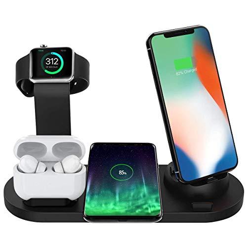Bestrans Wireless Charger 3 in 1, Ladestation für Watch, Pro/2/1 und Smartphone, Fast...