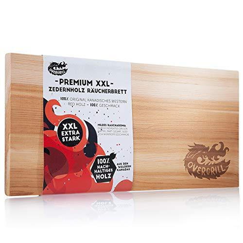 OVERGRILL Zedernholzbrett zum Grillen: Premium XXL Zedernholz Rauchbrett – Holzbrett zum Grillen...