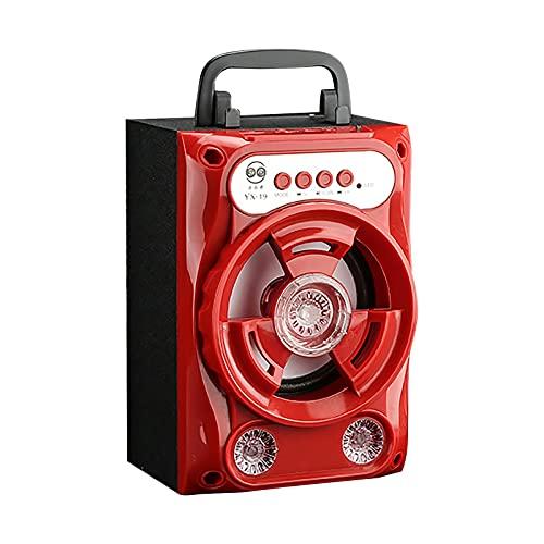 MARIJEE Subwoofer Bluetooth Speaker Tragbarer kabelloser...