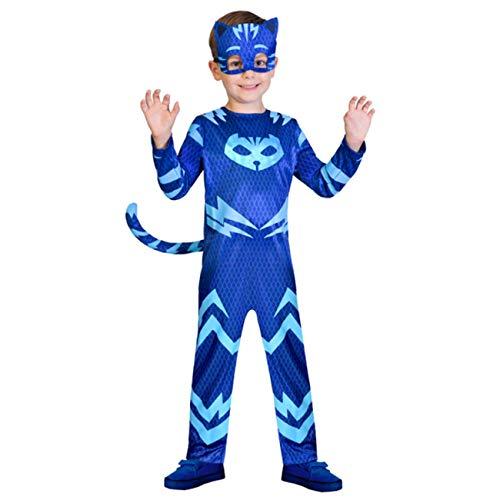 Amscan 9902954 - Kinderkostüm PJ Masks Catboy, Jumpsuit und Maske, Superhelden