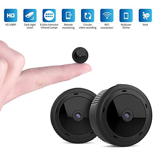 Mini Kamera, ZHITING 1080P HD WiFi Camera, Small Wireless Home Security Surveillance Cameras with...