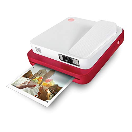 KODAK Smile Classic Sofortbilddigitalkamera + Bluetooth (Rot), 16MP, 35 Drucke/Aufladung –...