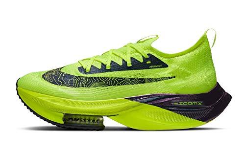Nike Herren NK AIR Zoom ALPHAFLY Next% FK Laufschuh, Volt Black Racer Blue Multi Color White, 40 EU