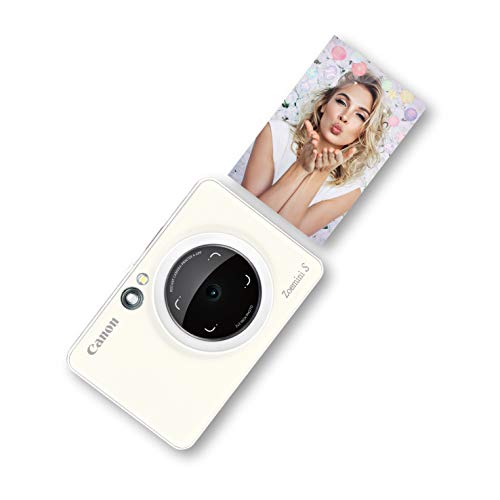 Canon Zoemini S Sofortbildkamera digital 8 MP (inkl. Mini Fotodrucker, Sucher, Ringblitz, Selfie...