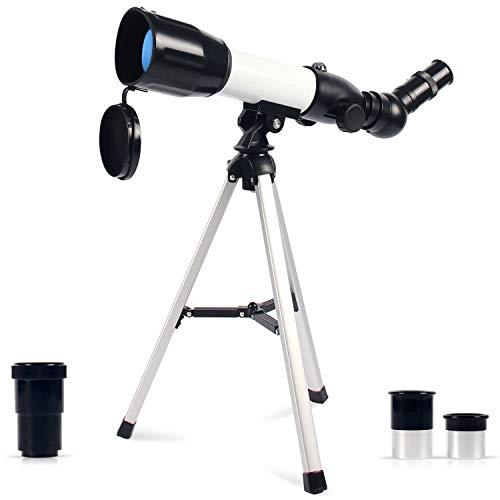 Upchase Astronomisches Teleskop Kinder, 360/50mm Super Klares Teleskop, Tragbares Refraktor...