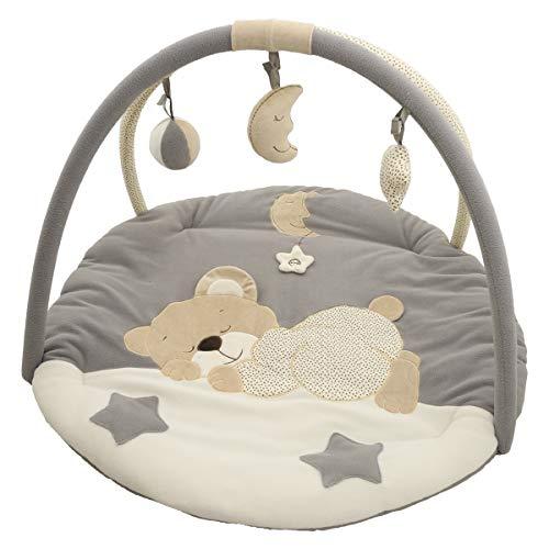 Bieco Krabbeldecke mit Spielbogen für Babys, Schlafbär | ∅ ca. 90 cm | süße Mobile Spieldecke...