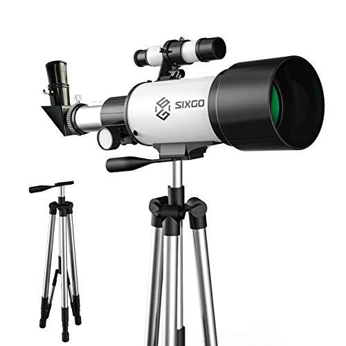 Astronomisches Telescope SIXGO Teleskop für Kinder und Anfänger Astronomy 70/300 Objektiv...