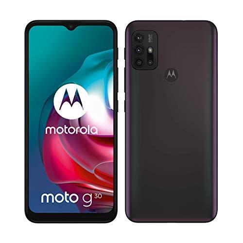 """Motorola moto g30 (6,5""""-Display, 64-MP-Kamera, 4/128 GB, 5000 mAh, Dual-SIM, Android 11) Dark..."""