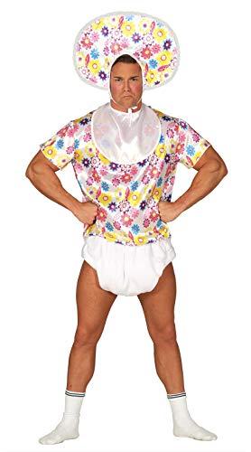Fiestas Guirca Baby Kostüm Für Erwachsene inkl. Oberteil, Lätzchen, Windel, Kopfbedeckung -...