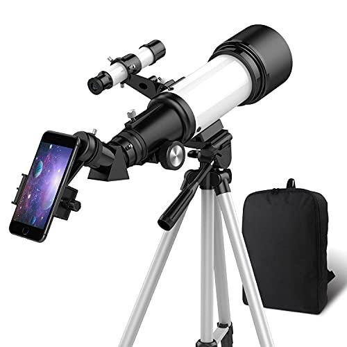 OYS Teleskop, Teleskop für Erwachsene, 70 mm Blende, 400 mm AZ-Halterung, Teleskop für Kinder...