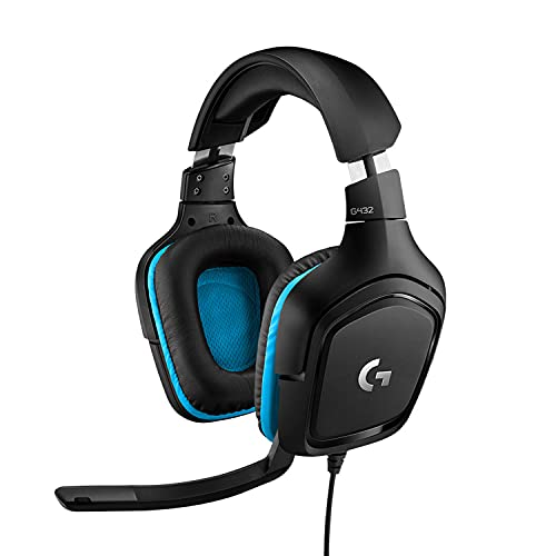 Logitech G432 kabelgebundenes Gaming-Headset, 7.1 Surround Sound, DTS Headphone:X 2.0,...